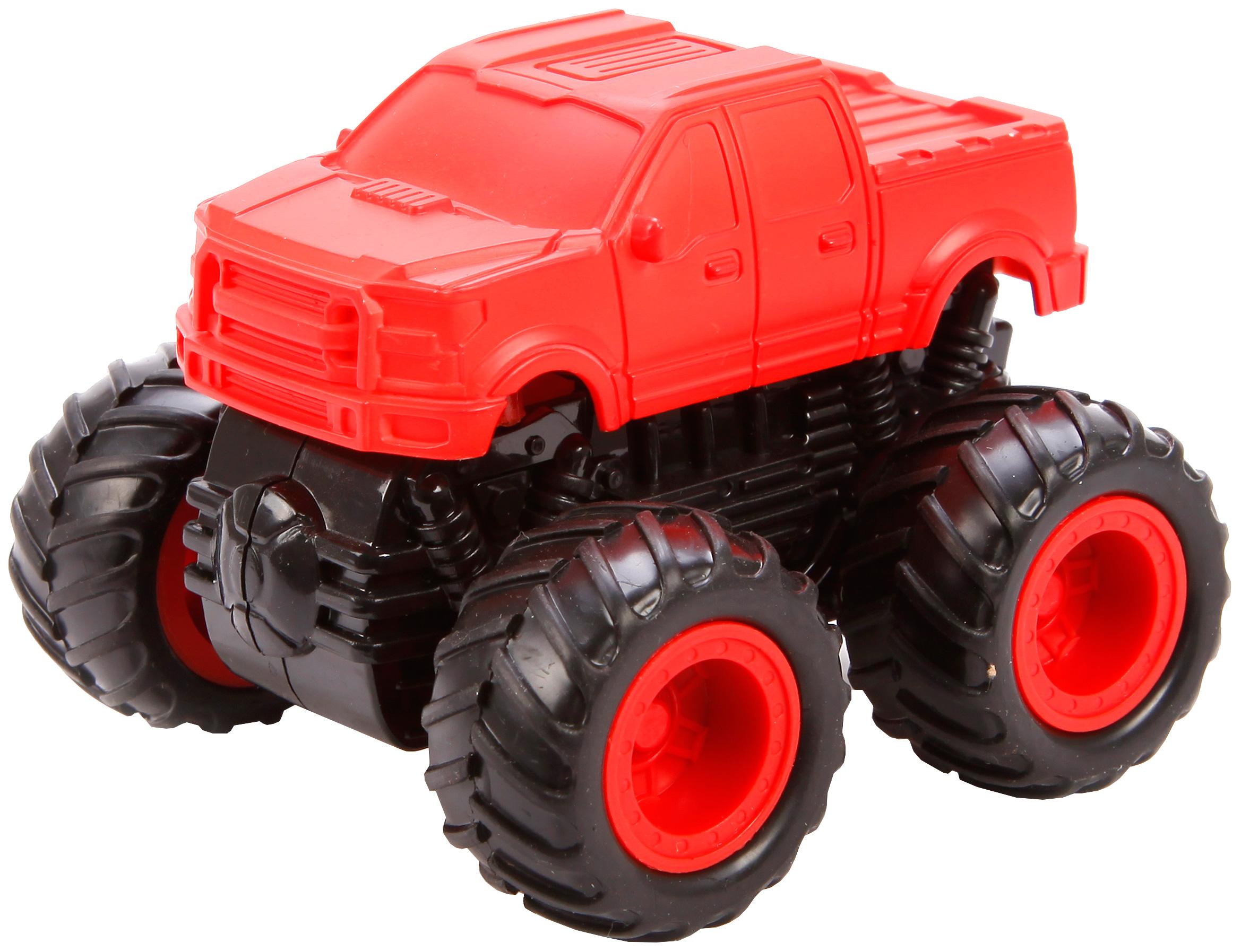 Купить Машина пласт. с 4-мя ведущими колёсами (4WD), серия NEON, син, / жёлт./ крас, Yako Toys, Игрушечные машинки