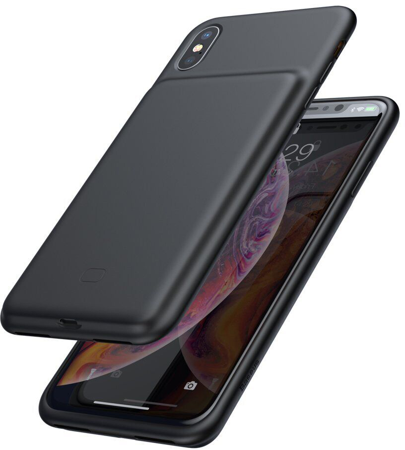 Чехол-аккумулятор Baseus Liquid Silicone Smart 4200 mAh для iPhone Xs Max Black