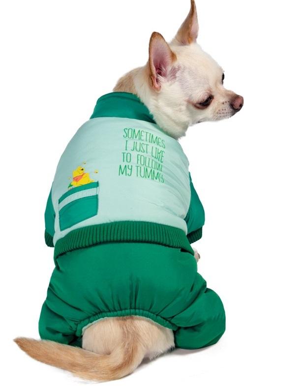 Комбинезон для собак Triol Disney Winnie the Pooh, зеленый, зимний, XS фото