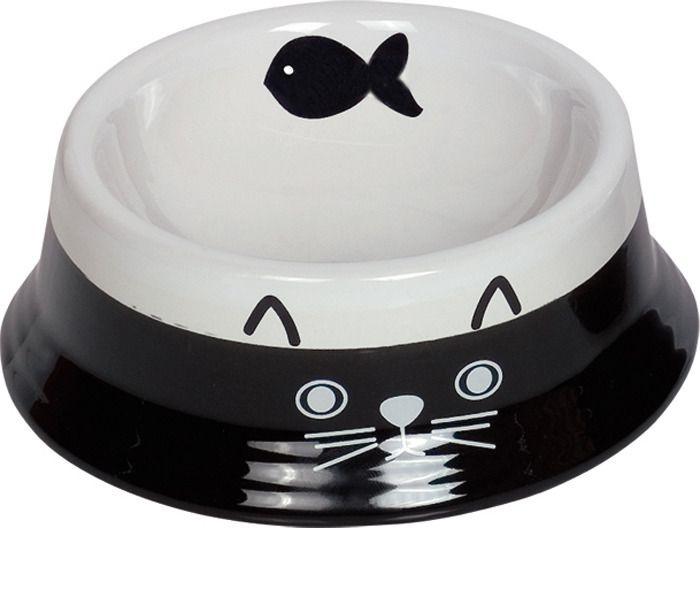 Миска для животных Nobby Cat face, керамическая