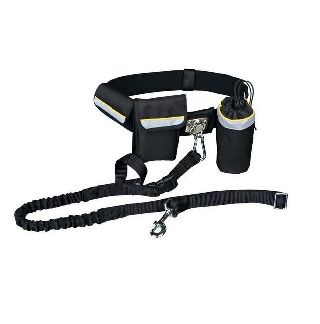 Ремень поясной с поводком для собак TRIXIE, черный, до 40 кг, фото