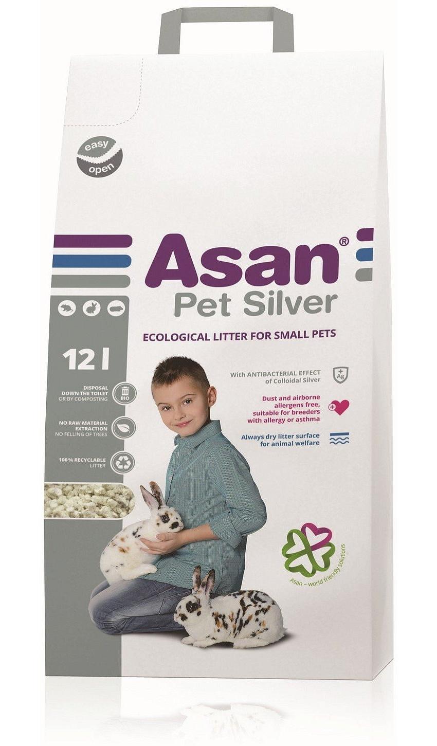 Наполнитель Asan Pet Silver с коллоидным серебром