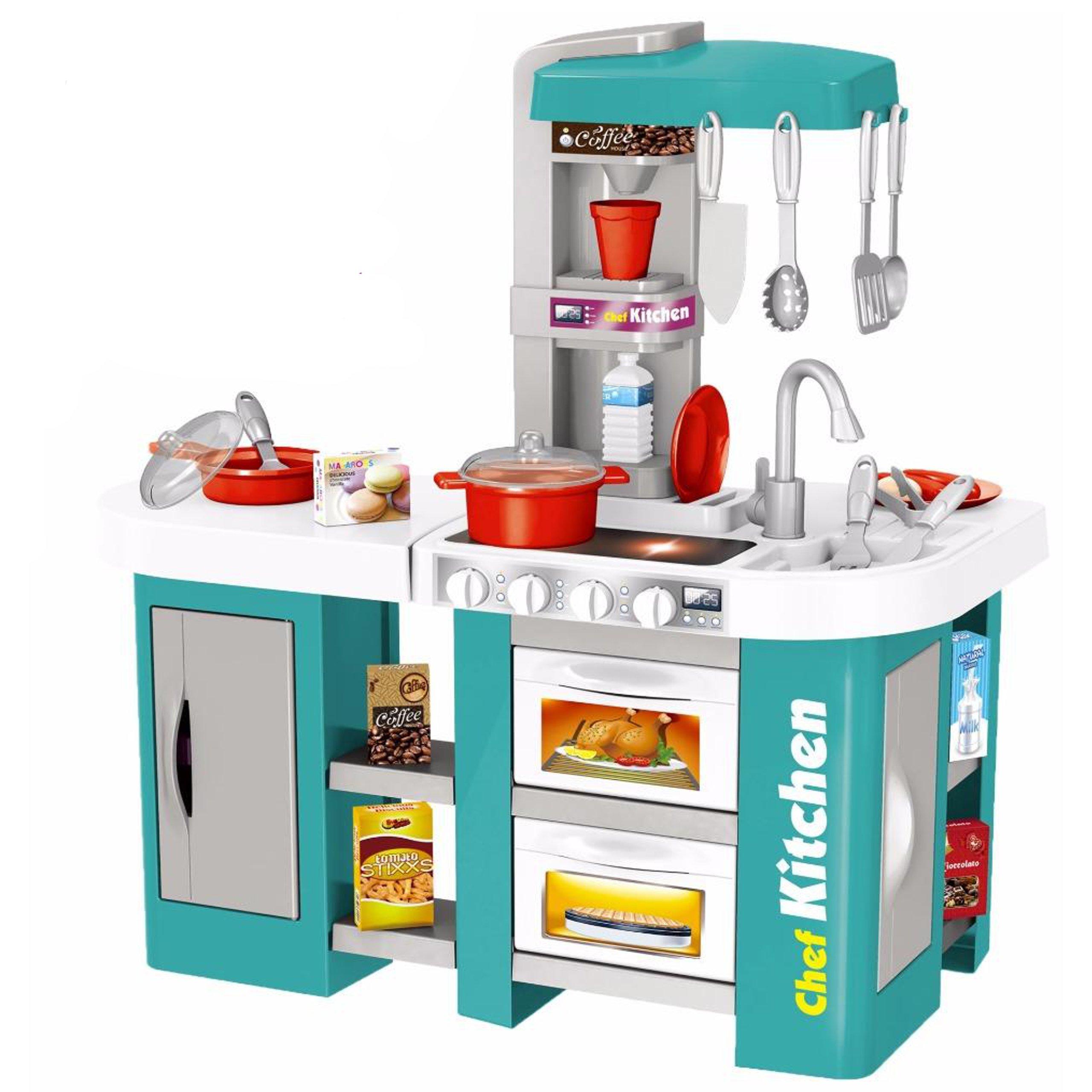 Купить Кухня с водой Talented chef 53 детали, с xолодильником, свет, звук 922-46, Kitchen, Детская кухня
