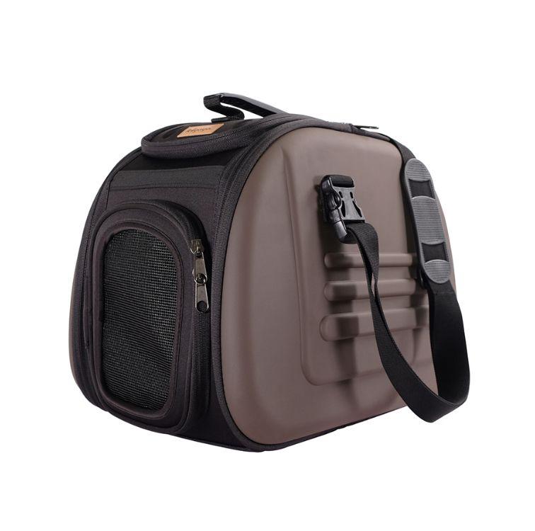 Переноска для кошек и собак IBIYAYA, складная сумка, до 6 кг, коричневая, 40х28х28 см