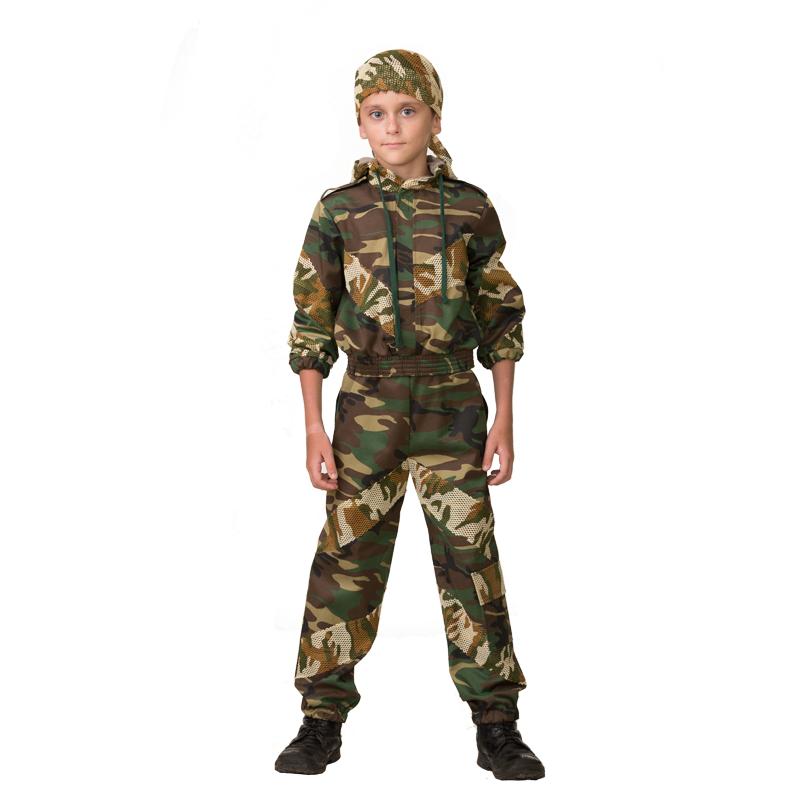 Купить Спецназ/5701, Карнавальный костюм JEANEES Военный, цв. хаки р.134,
