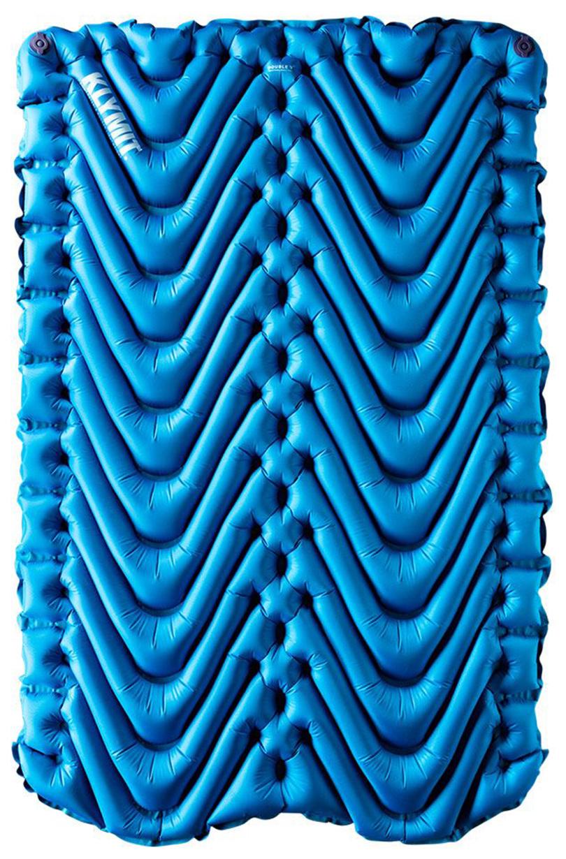 Коврик туристический надувной Klymit Static V Pad Double Pad Blue