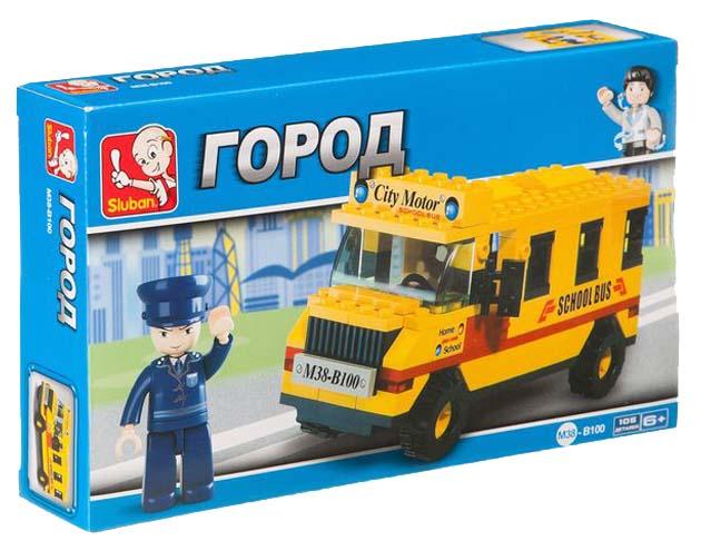 Конструктор пластиковый Sluban Школьный автобус M38 B100