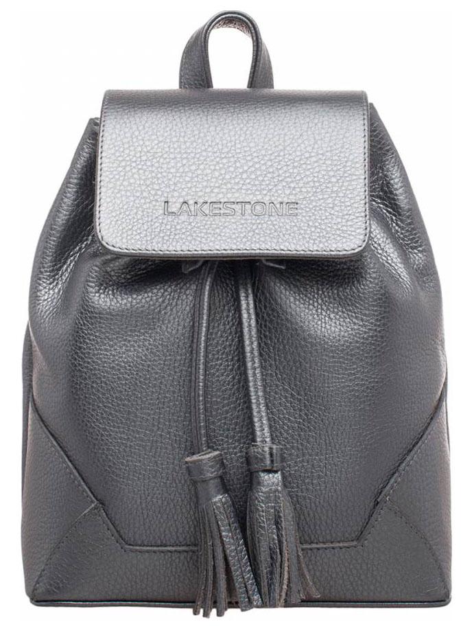 Рюкзак кожаный Lakestone Clare серебристый 7 л фото