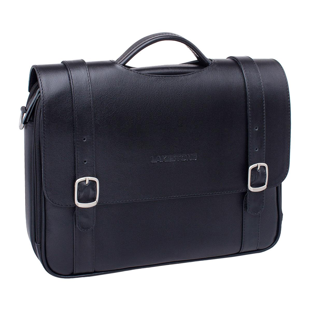 Портфель мужской кожаный Lakestone Redcliff черный фото