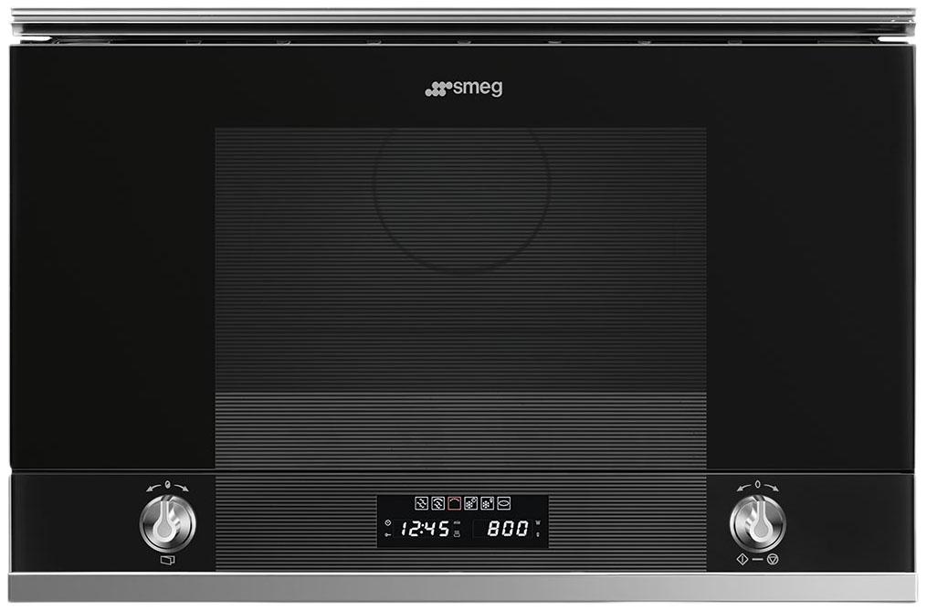Встраиваемая микроволновая печь с грилем Smeg Linea MP122N1 фото