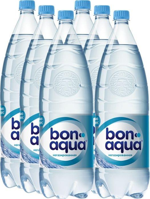 Вода Bonaqua чистая питьевая негазированная пластик 2 л 6 штук в упаковке фото