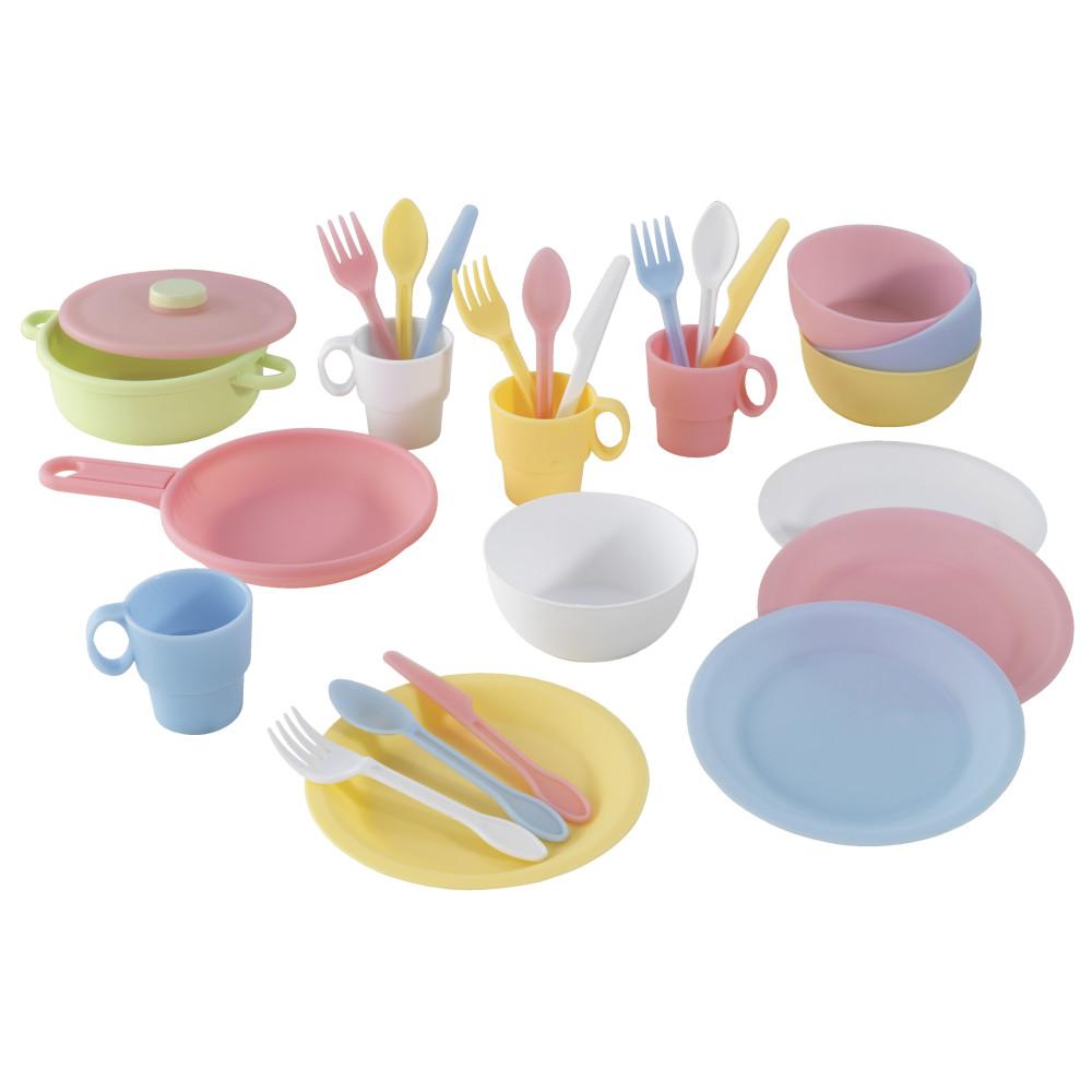 Кухонный игровой набор посуды KidKraft Пастель