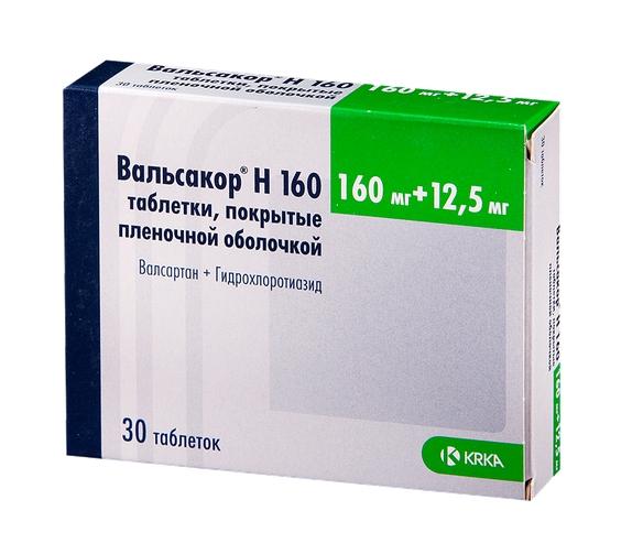 Вальсакор Н160 таблетки 160 мг+12,5 мг 30 шт.