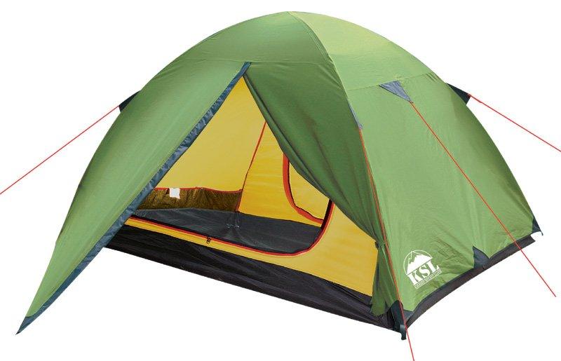 Палатка KSL Spark трехместная зеленая