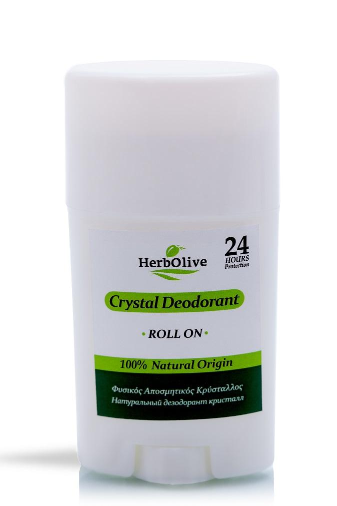 Дезодорант для тела Herbolive Кристалл натуральный роллер 70 гр