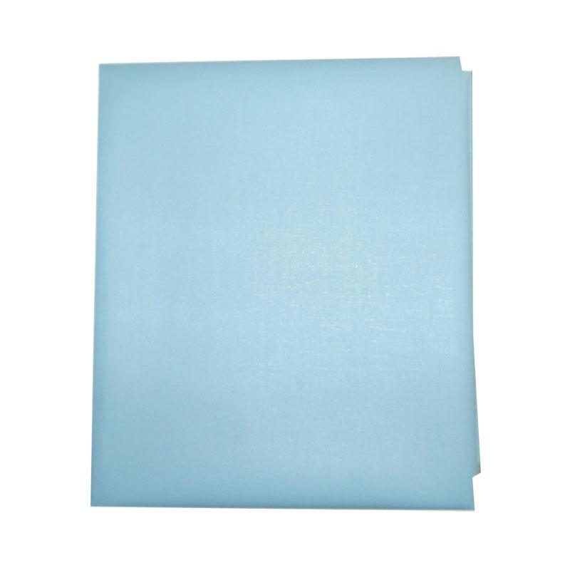 Наматрасник детский Папитто непромокаемый на резинке ПВХ 120х60 Голубой 060