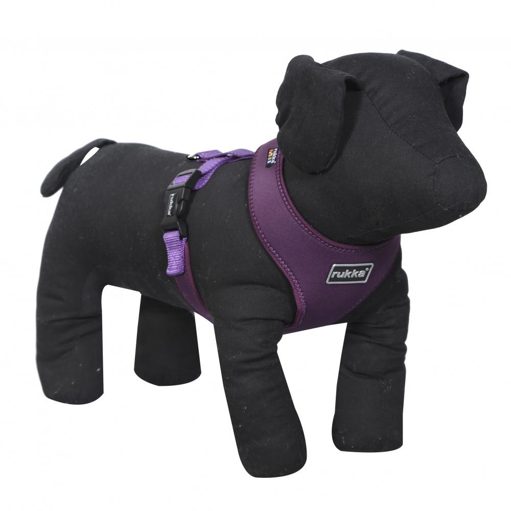 Шлейка для собак RUKKA Mini Сomfort 34-52см х 28см фиолетовая фото