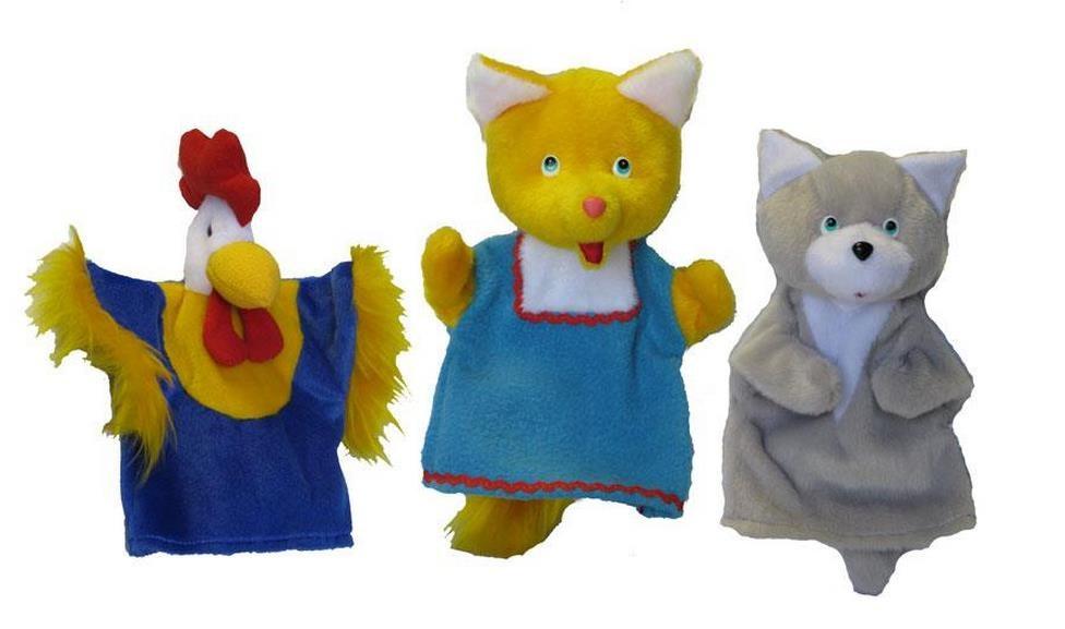 Игровой набор Тайга Кукольный театр Кот Петух и Лиса 3 куклы