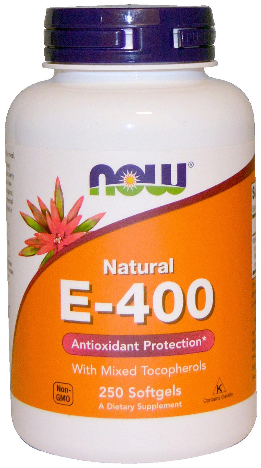 Купить Витамин E NOW E-400 Mixed + Tocopherols 250 капс.