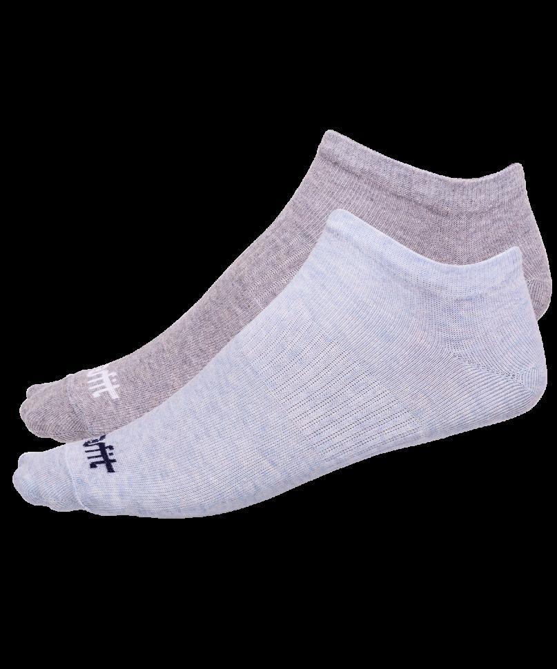 Носки StarFit SW-205, голубый меланж/светло-серый меланж, 35-38 EU