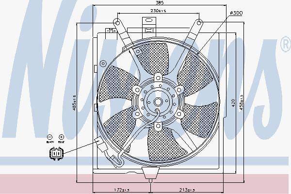 Вентилятор охлаждения двигателя NISSENS 85300