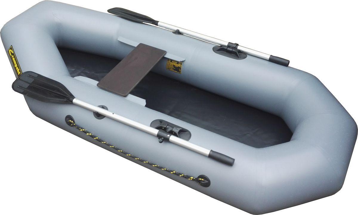 Лодка для рыбалки Leader Компакт-220 серая