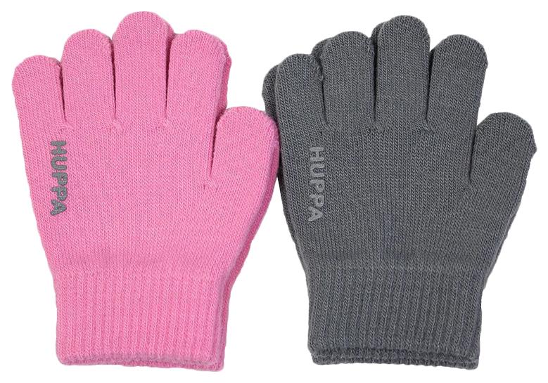 Перчатки Huppa levi 2 розовые/серые р.1