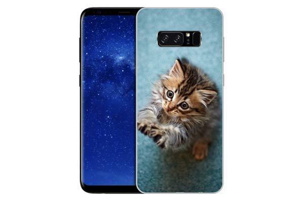 Чехол Gosso Cases для Samsung Galaxy Note 8 «Котёнок на голубом»