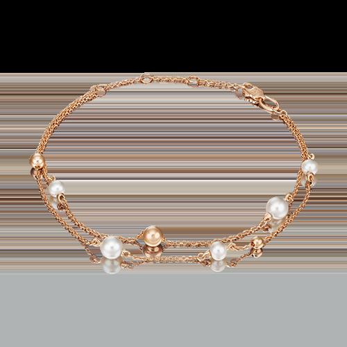 Браслет из золота с жемчугом PLATINA jewelry 05-0609-00-301-1110-31