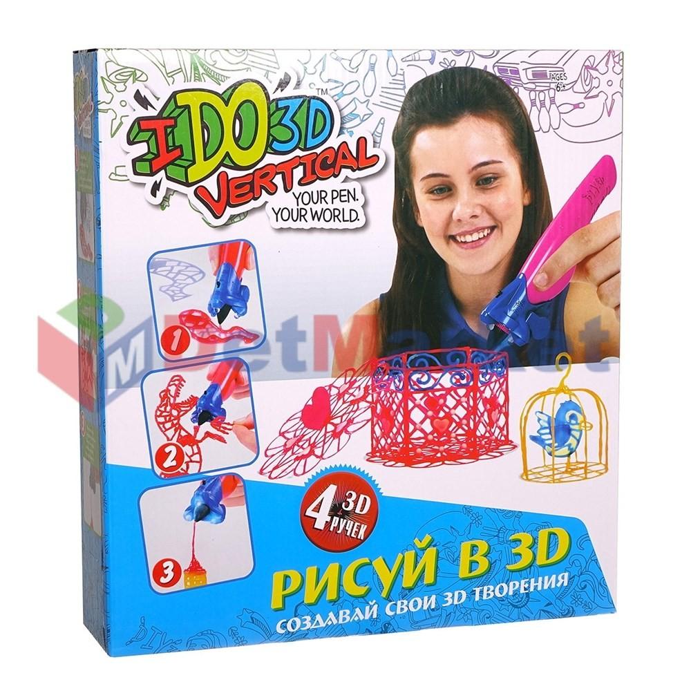 Купить Ручка для 3D-рисования I Do 3D Vertical 4шт, Markethot,