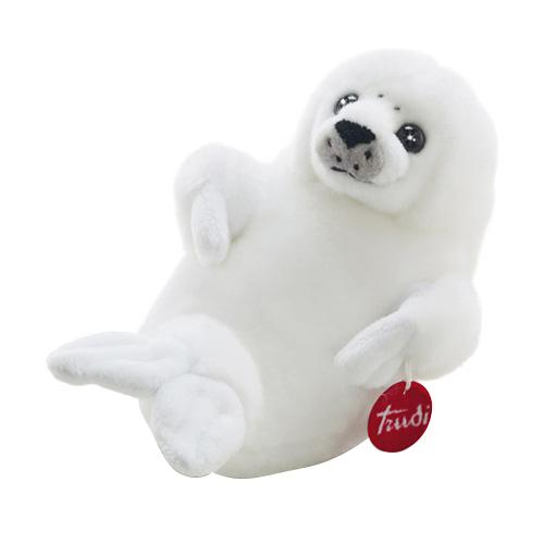 Купить Мягкая игрушка Trudi белый Тюлень, 28 см, Мягкие игрушки животные