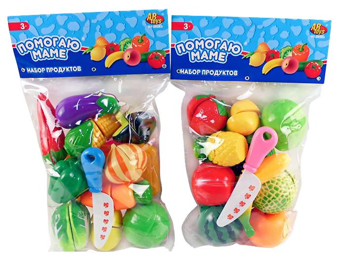 Набор продуктов игрушечный ABtoys Помогаю маме на липучках 11 предметов в ассортименте