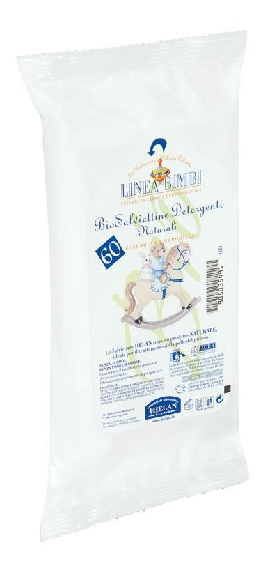 Купить Органические влажные салфетки (60шт.), Детские влажные салфетки Helan Linea Bimbi 60 шт.