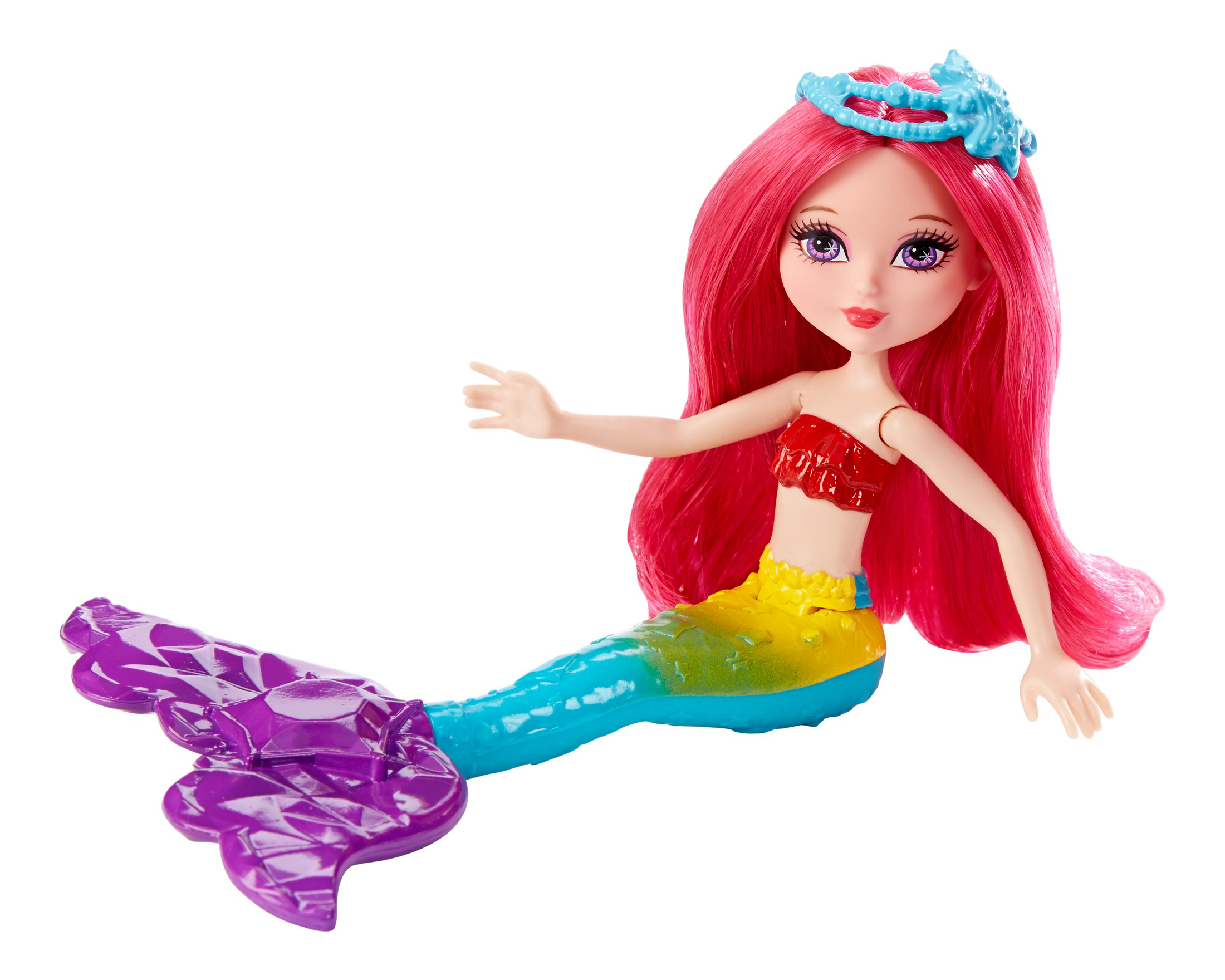 Купить Mini Mermaid Rainbow Doll, Кукла Barbie Маленькая русалочка с красными волосами DNG07 DNG08, Куклы Barbie