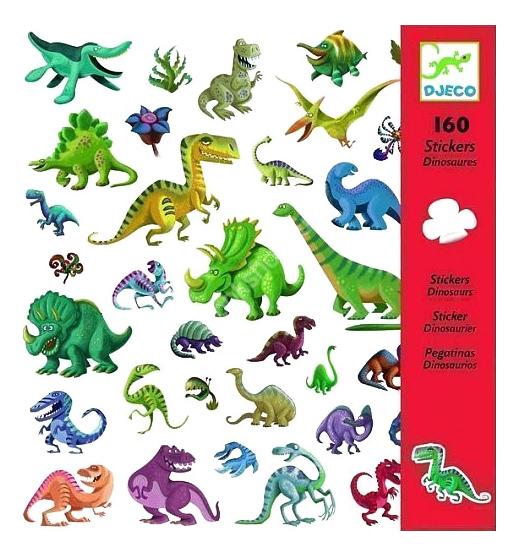 Купить Наклейка декоративная для детской комнаты Djeco Dinosaurs, Аксессуары для детской комнаты