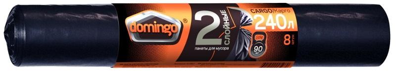 Мешок для мусора Domingo суперпрочный в рулоне 240 л 8 шт