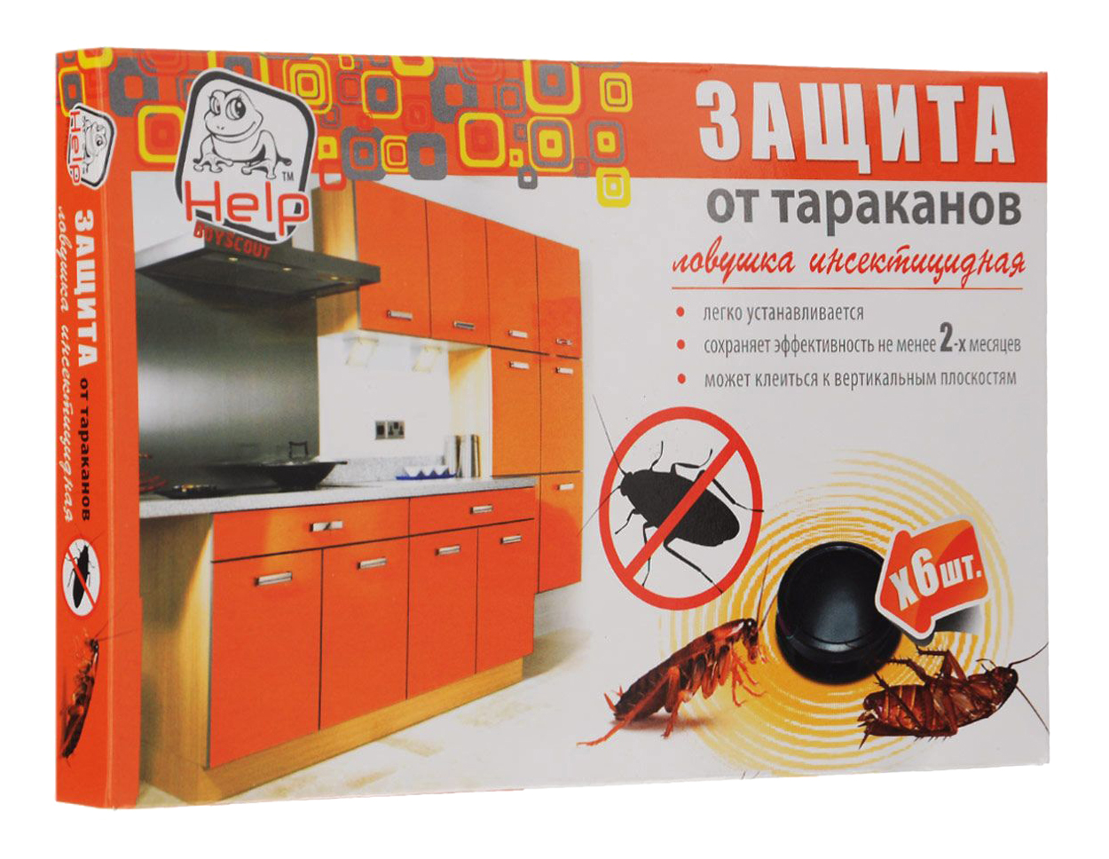 Ловушка Help для тараканов 6 штук