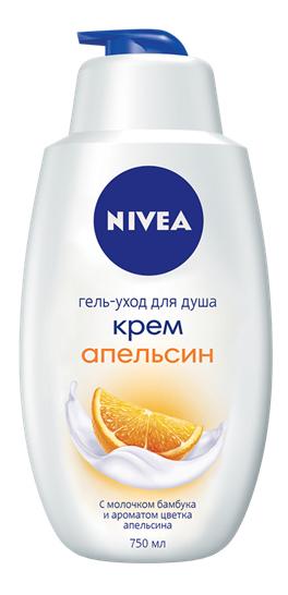 Гель-уход для душа Nivea Крем апельсин 750 мл