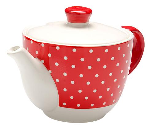 Заварочный чайник LORAINE Красный узор 900