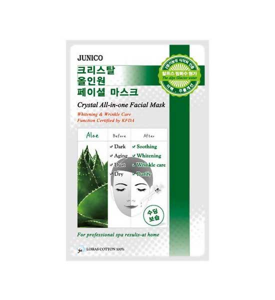Купить Маска для лица MJ CARE Junico Crystal All-in-one Facial Mask Aloe 25 г