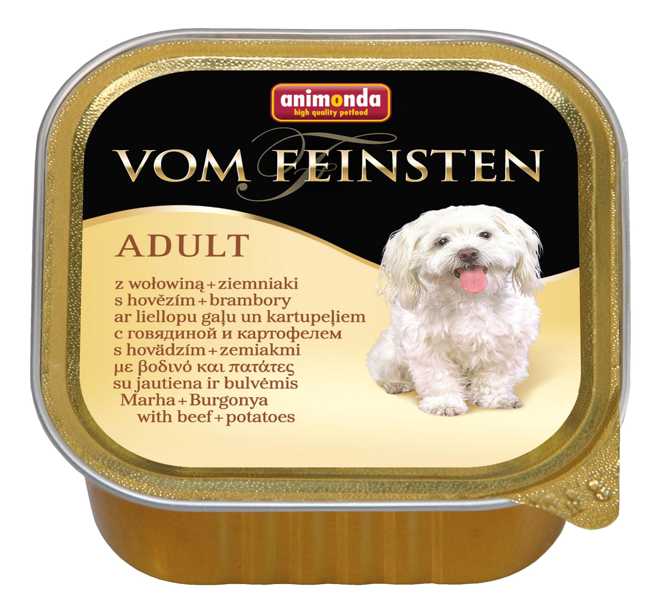 Консервы для собак Animonda Vom Feinsten Adult, с говядиной и картофелем 150г фото