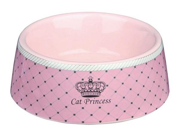 Одинарная миска для кошек TRIXIE, керамика, розовый,