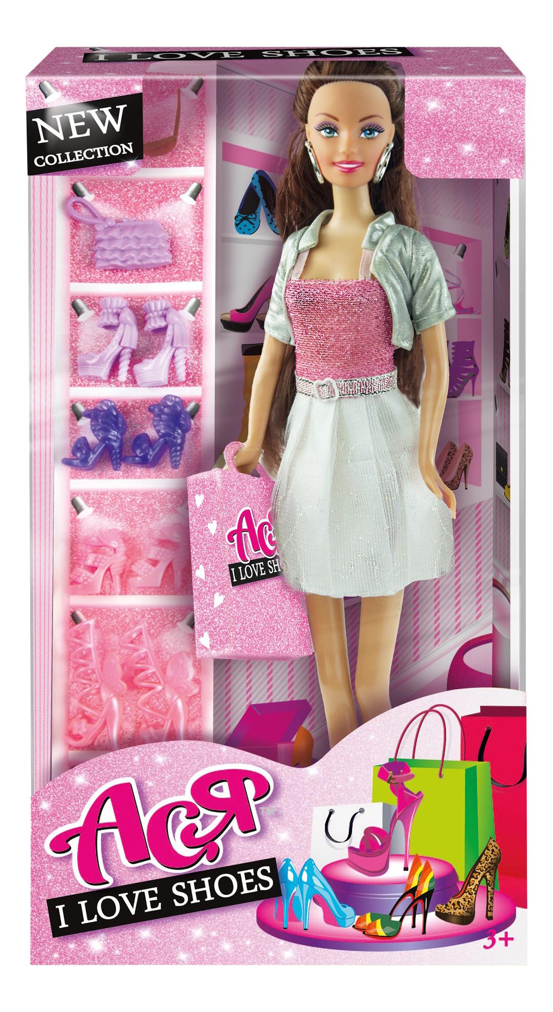 Кукла ToysLab Entertainment Ася Шатенка в бело-розовом платье