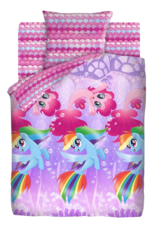 Комплект детского постельного белья Непоседа 1,5 бязь My Little Pony Подводные пони фото