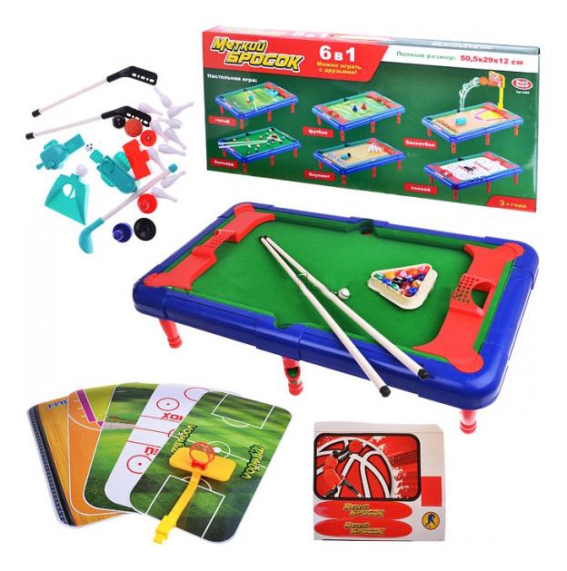 Купить Спортивная настольная игра Play Smart 6 в 1 меткий бросок уменьшенная версия, PLAYSMART, Настольный футбол для детей