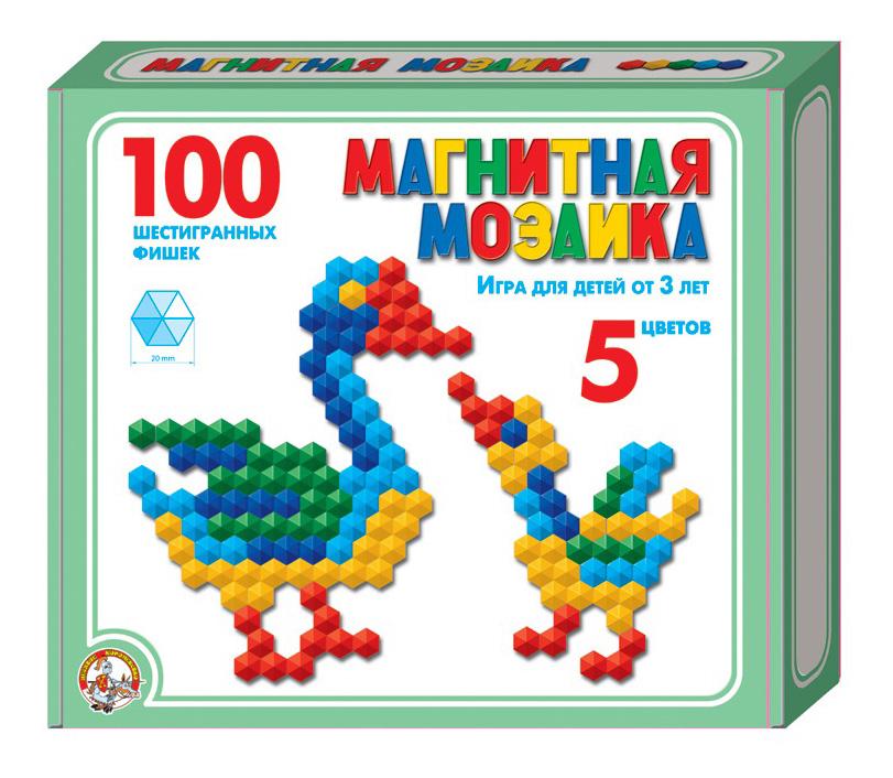 Купить Мозаика магнитная шестигранная 5 цветов 100 элементов Тридевятое царство, Мозаики