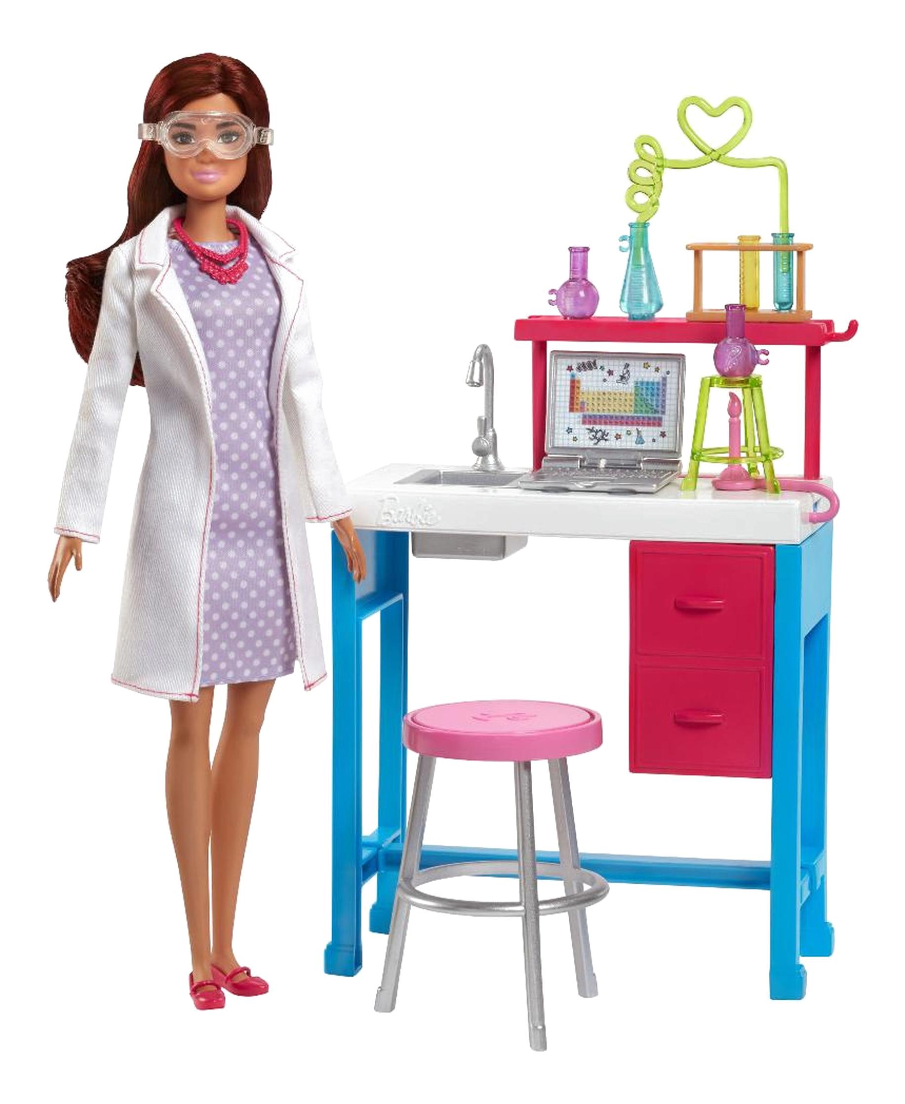 Купить Игровой набор Barbie Лаборатория FJB25 FJB28, Куклы Barbie