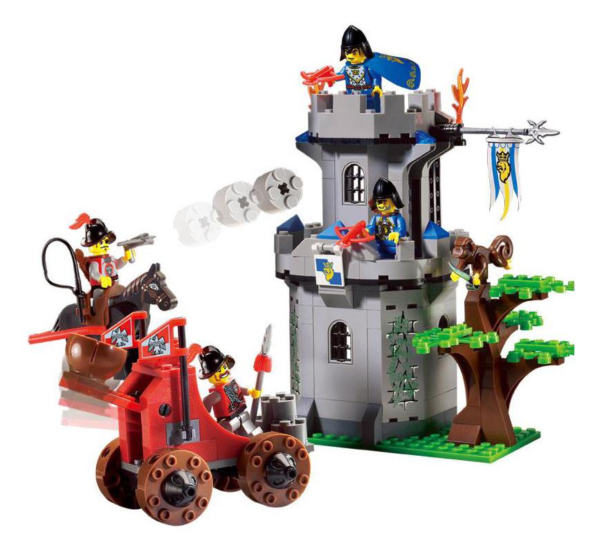 Купить Конструктор пластиковый Enlighten Рыцарские замки - Лесной форт 262 элемента, Конструкторы пластмассовые