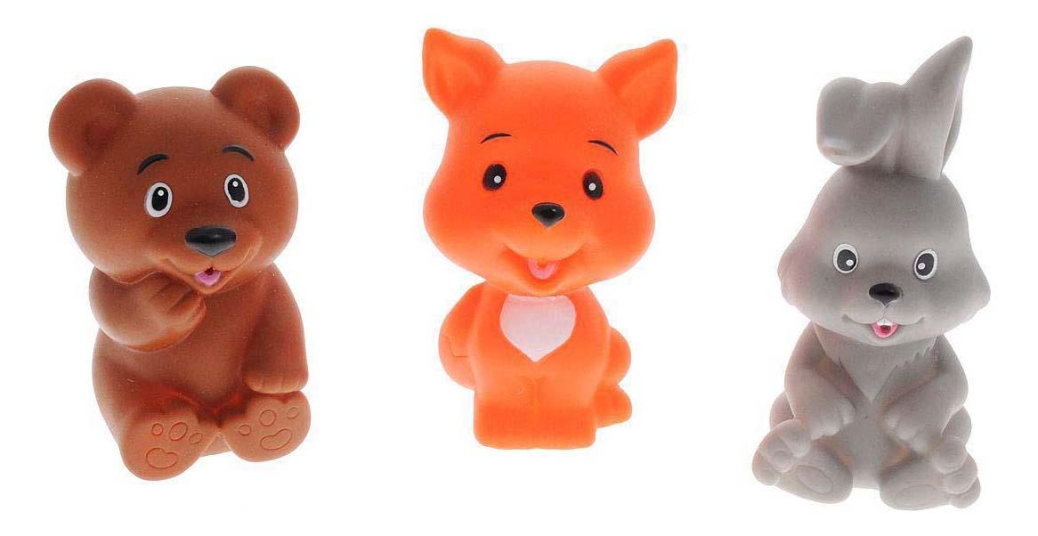 Игрушки для ванной набор Заяц, лиса и мишка Играем вместе LXB333_335_336