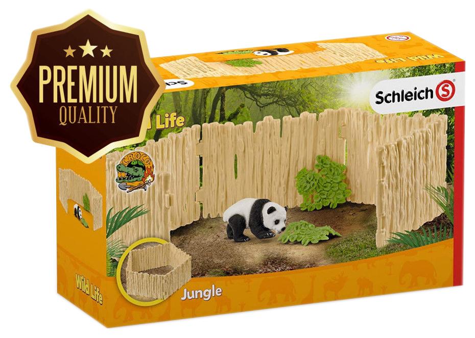 Игровой набор животных Schleich Загон с детенышем панды 42429 фото